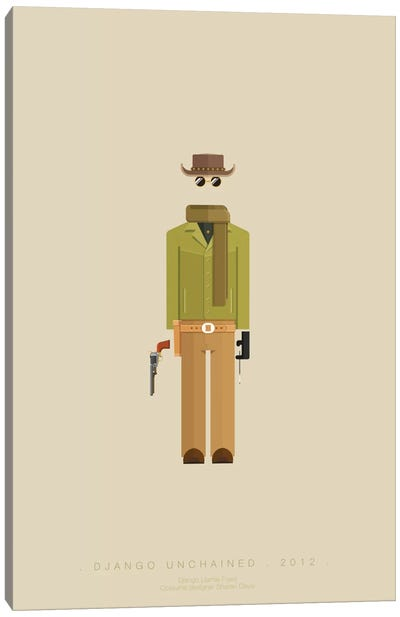 Famous Hollywood Costumes Series: Django Unchained I Canvas Art Print