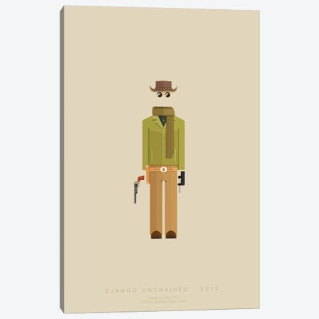 Django Unchained I Canvas Print #FBI40} by Fred Birchal Art Print