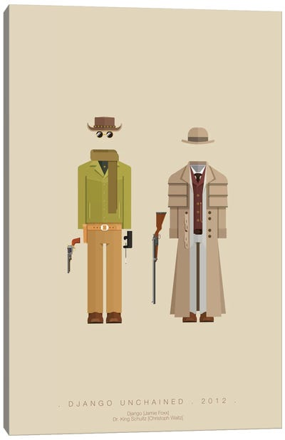 Famous Hollywood Costumes Series: Django Unchained II Canvas Art Print