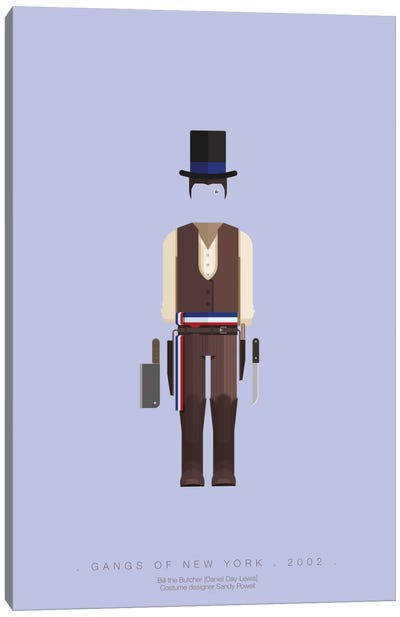 Famous Hollywood Costumes Series: Gangs Of New York I Canvas Art Print