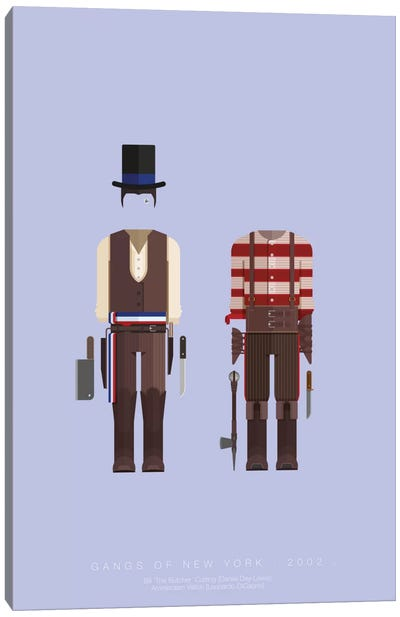 Famous Hollywood Costumes Series: Gangs Of New York II Canvas Art Print