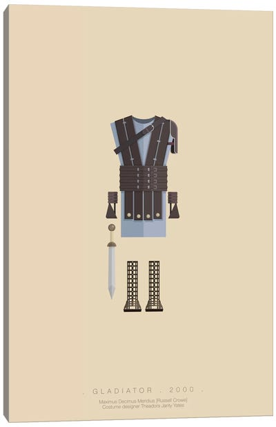 Famous Hollywood Costumes Series: Gladiator Canvas Art Print
