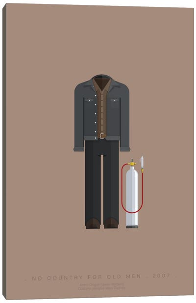 Famous Hollywood Costumes Series: No Country For Old Men Canvas Art Print