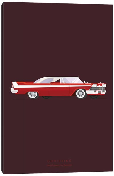 Famous Cars Series: Christine Canvas Art Print
