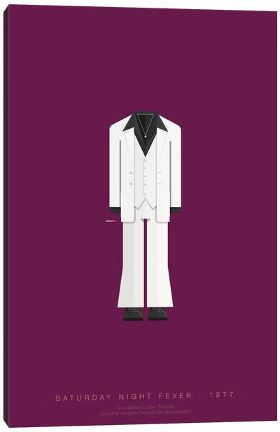 Famous Hollywood Costumes Series: Saturday Night Fever Canvas Art Print