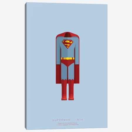 Superman Canvas Print #FBI68} by Fred Birchal Canvas Print