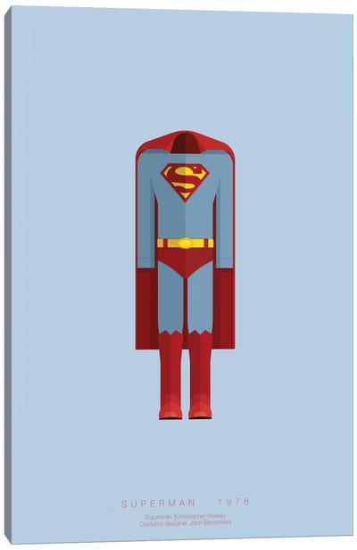 Famous Hollywood Costumes Series: Superman Canvas Art Print