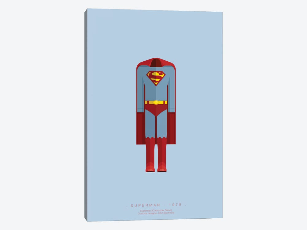 Superman by Fred Birchal 1-piece Canvas Artwork