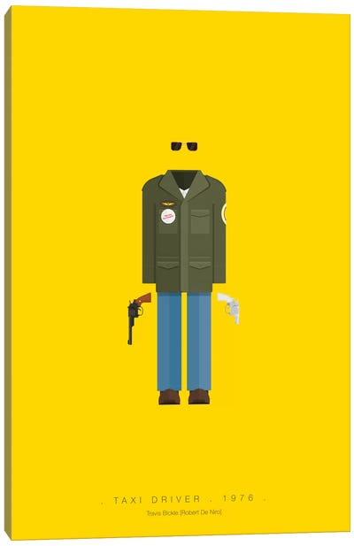 Famous Hollywood Costumes Series: Taxi Driver Canvas Print #FBI69