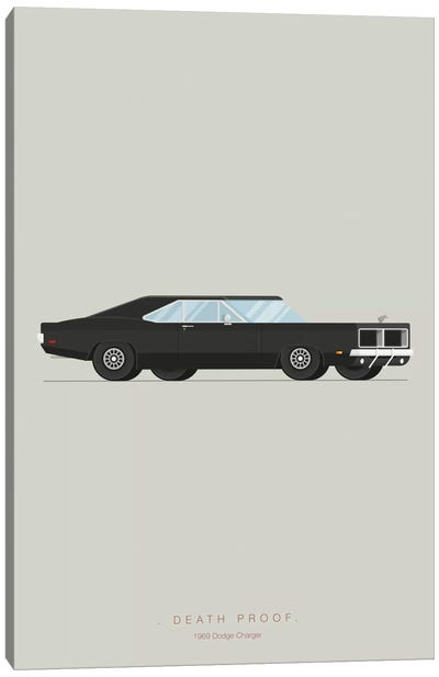 Famous Cars Series: Death Proof Canvas Art Print
