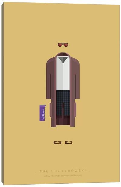 Famous Hollywood Costumes Series: The Big Lebowski Canvas Print #FBI72