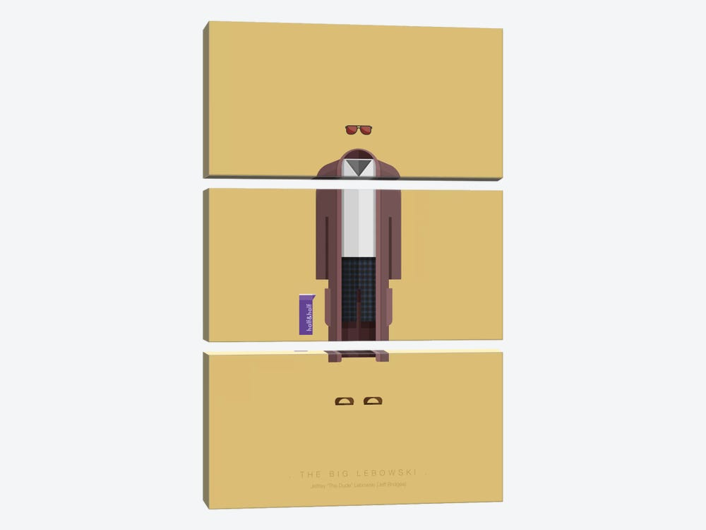 The Big Lebowski by Fred Birchal 3-piece Art Print