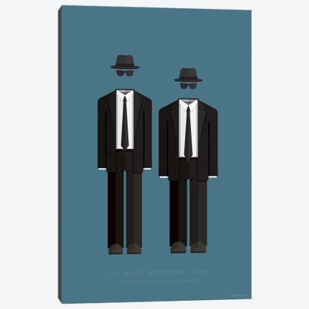 The Blues Brothers Canvas Print #FBI74} by Fred Birchal Canvas Print