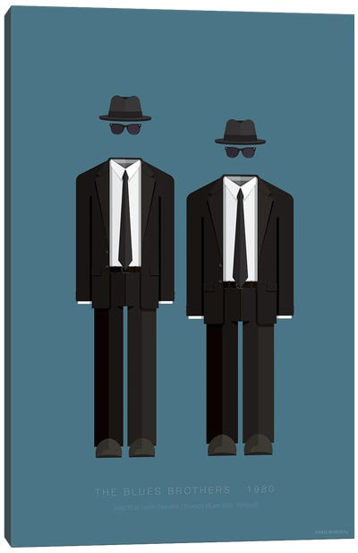 Famous Hollywood Costumes Series: The Blues Brothers Canvas Art Print