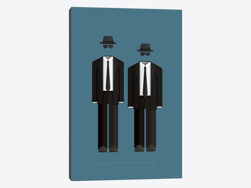 The Blues Brothers by Fred Birchal 1-piece Canvas Art Print