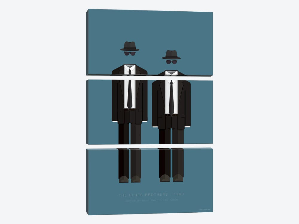 The Blues Brothers by Fred Birchal 3-piece Art Print