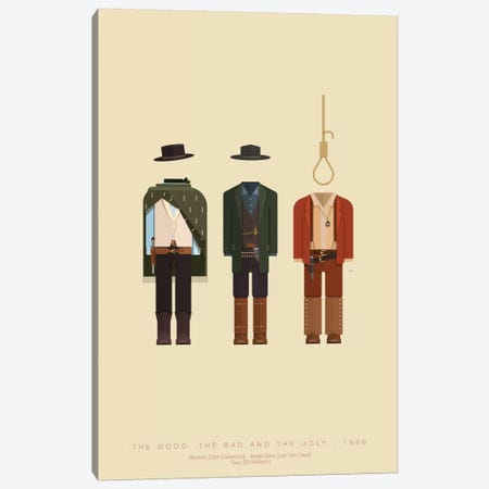 The Good, The Bad And The Ugly Canvas Print #FBI75} by Fred Birchal Canvas Print