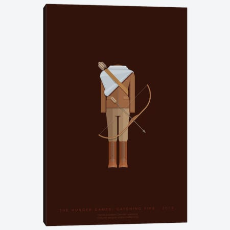 The Hunger Games Canvas Print #FBI77} by Fred Birchal Canvas Art Print