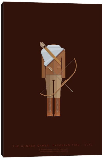 Famous Hollywood Costumes Series: The Hunger Games Canvas Art Print