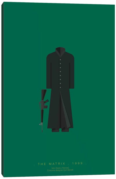 Famous Hollywood Costumes Series: The Matrix I Canvas Art Print