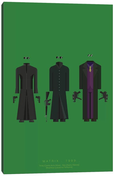 Famous Hollywood Costumes Series: The Matrix II Canvas Art Print