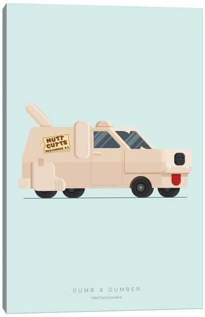 Famous Cars Series: Dumb And Dumber Canvas Art Print