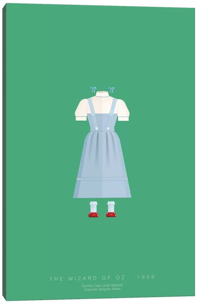 Famous Hollywood Costumes Series: The Wizard Of Oz Canvas Print #FBI86