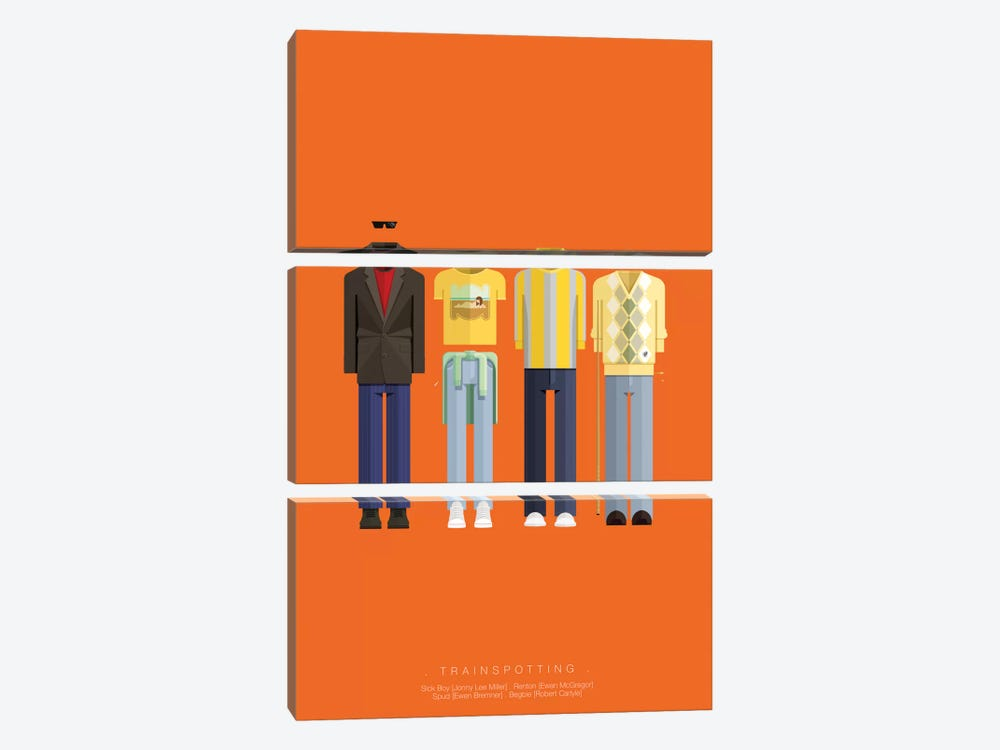 Trainspotting by Fred Birchal 3-piece Canvas Artwork