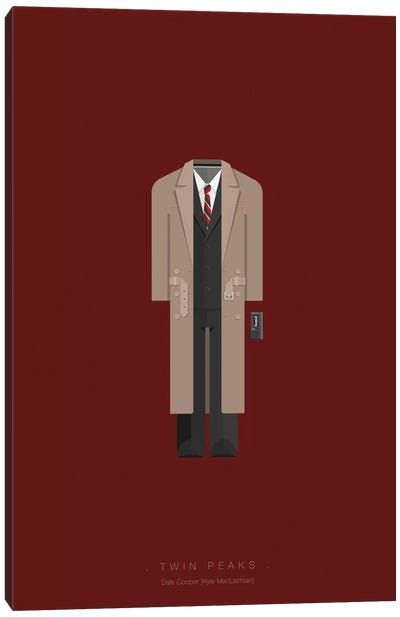 Famous Hollywood Costumes Series: Twin Peaks Canvas Art Print