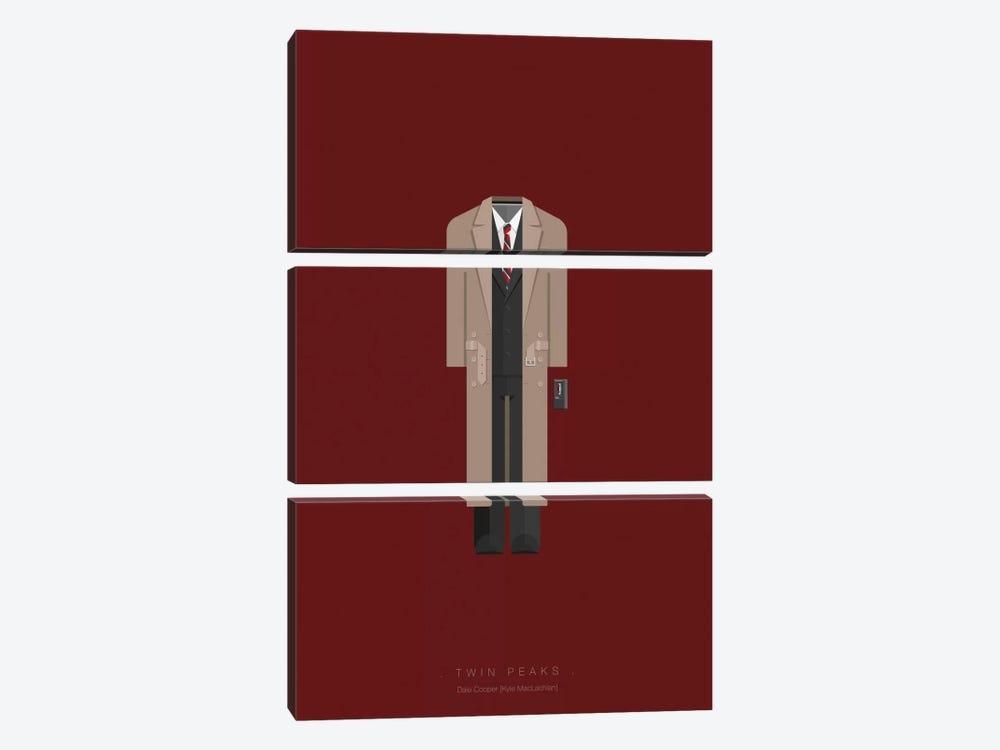 Twin Peaks by Fred Birchal 3-piece Canvas Print