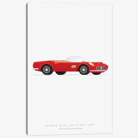 Ferris Bueller's Day Off Canvas Print #FBI8} by Fred Birchal Canvas Art