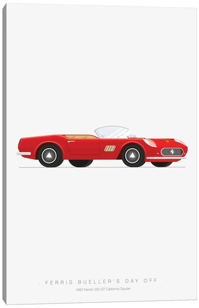 Famous Cars Series: Ferris Bueller's Day Off Canvas Print #FBI8