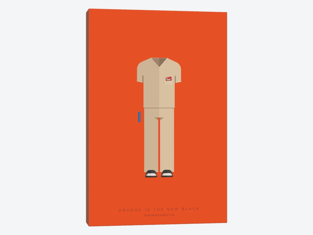 Orange Is The New Black by Fred Birchal 1-piece Canvas Wall Art