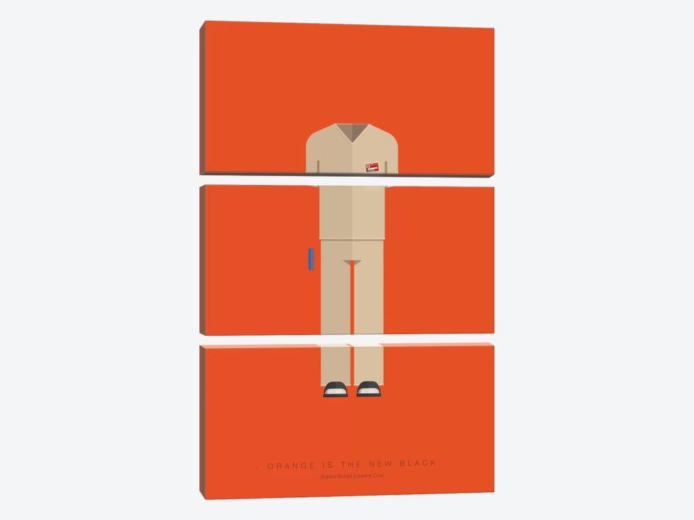 Orange Is The New Black by Fred Birchal 3-piece Canvas Art