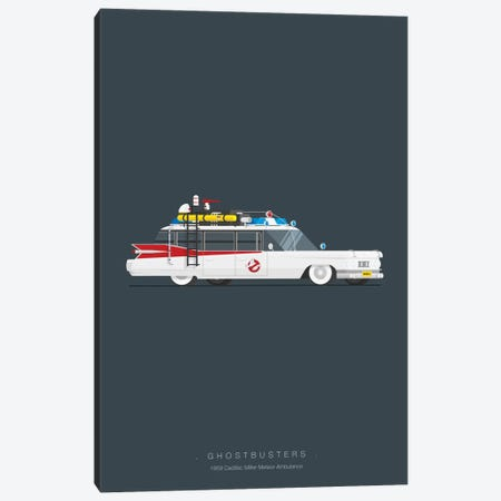 Ghostbusters Canvas Print #FBI9} by Fred Birchal Canvas Artwork