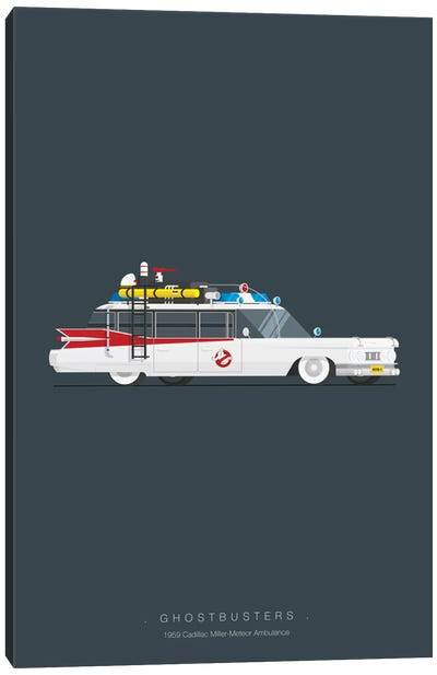 Famous Cars Series: Ghostbusters Canvas Art Print