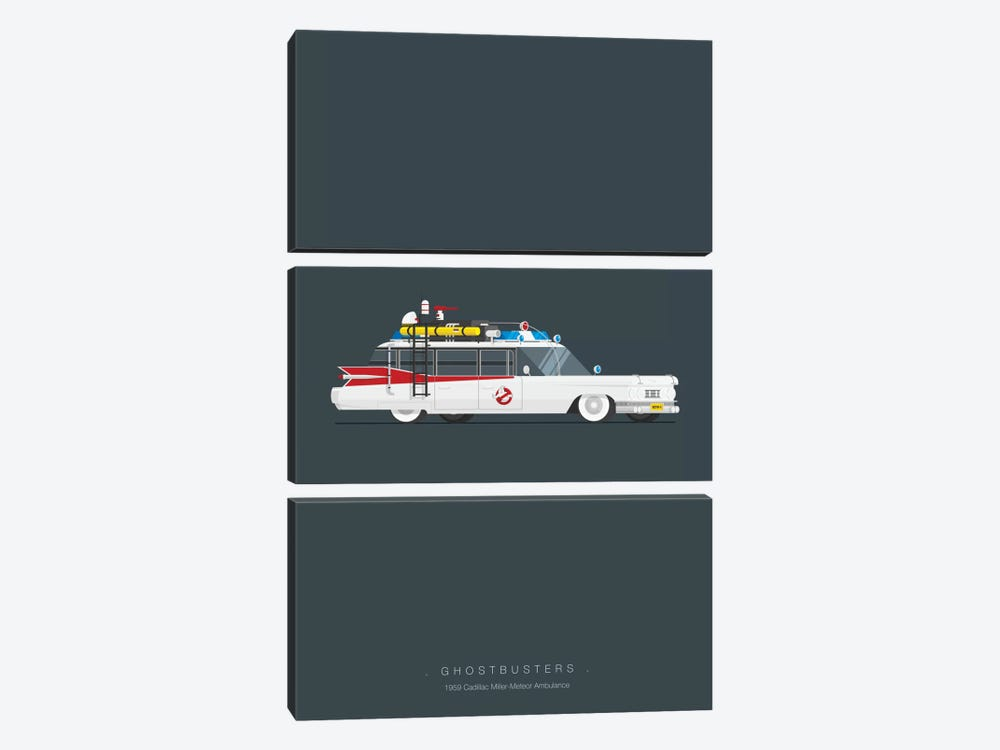 Ghostbusters by Fred Birchal 3-piece Canvas Wall Art