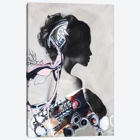 Pink Fluence I Canvas Print #FBK109} by Design Fabrikken Canvas Art