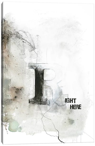 Right Here Canvas Art Print