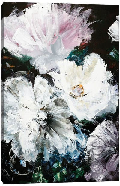 Soft Hue Flowers Canvas Art Print