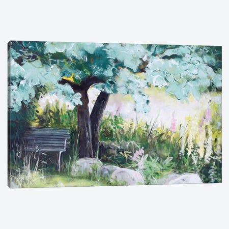 Spring Field Canvas Print #FBK131} by Design Fabrikken Art Print