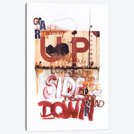 Up Side Down I Canvas Print #FBK149} by Design Fabrikken Canvas Wall Art