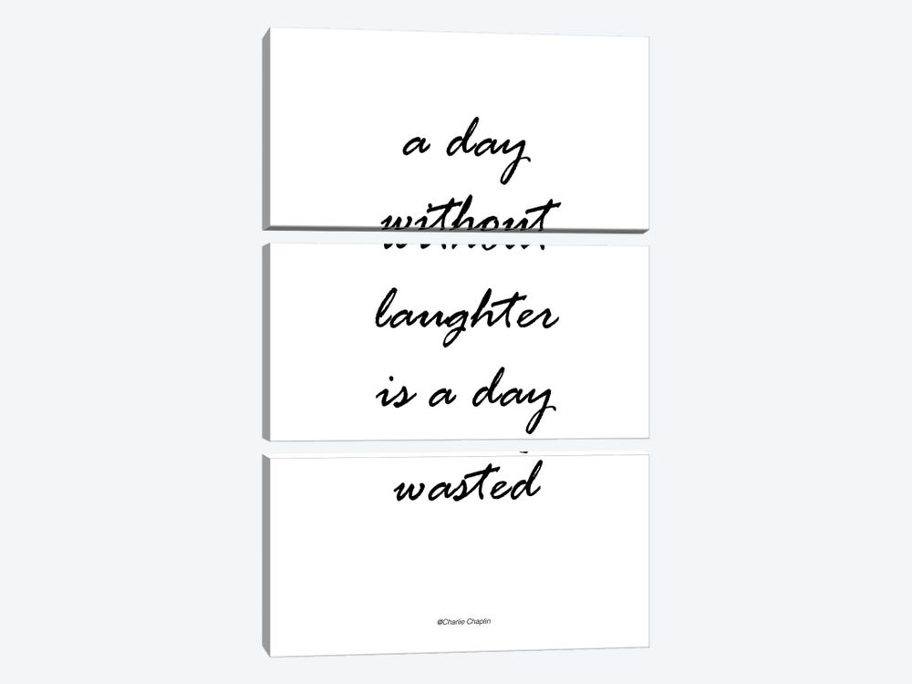 Without Laughter by Design Fabrikken 3-piece Canvas Artwork