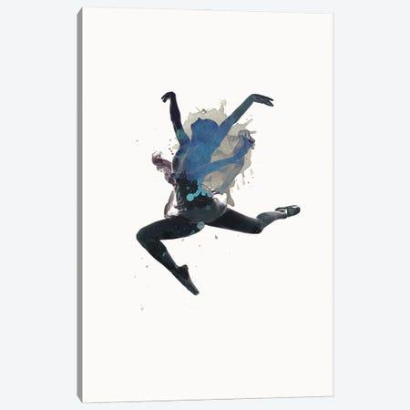 Ballerina Floating Canvas Print #FBK169} by Design Fabrikken Canvas Wall Art