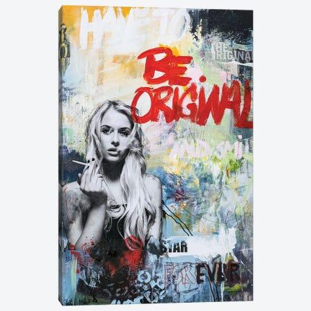Be Original Canvas Print #FBK171} by Design Fabrikken Art Print