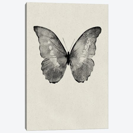 Black Butterfly on Tan Canvas Print #FBK204} by Design Fabrikken Canvas Artwork