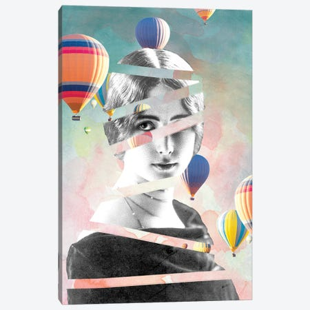 Cleo De Merode Baloons Canvas Print #FBK230} by Design Fabrikken Canvas Wall Art