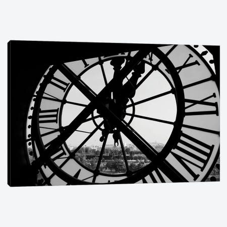 Clock Tower Canvas Print #FBK231} by Design Fabrikken Canvas Artwork