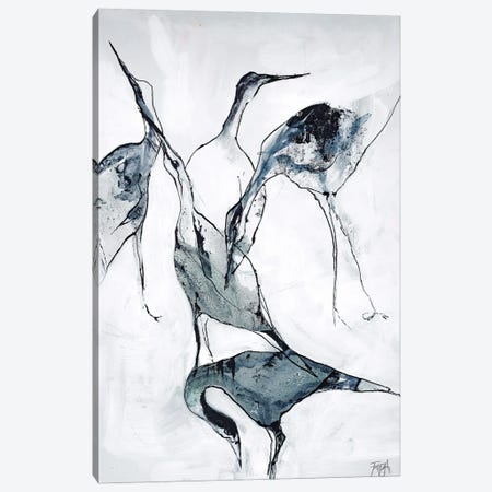 Crane I Canvas Print #FBK234} by Design Fabrikken Canvas Print