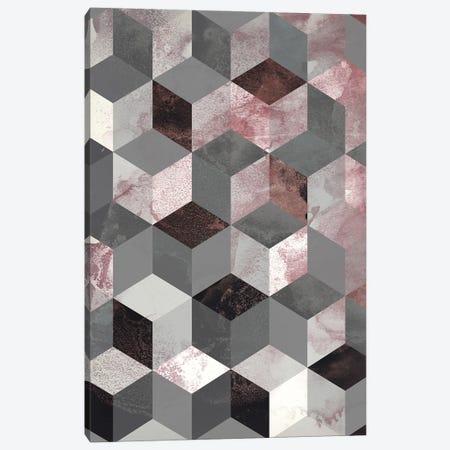 Cubes Rose Canvas Print #FBK238} by Design Fabrikken Canvas Wall Art